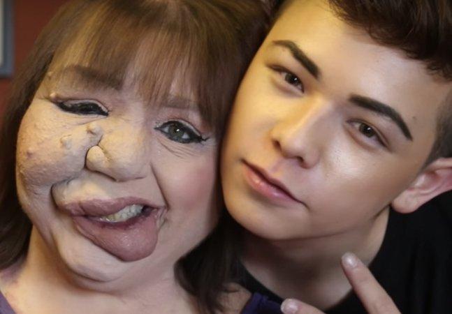 Jovem de 19 anos usa maquiagem e YouTube para melhorar a autoestima de sua mãe