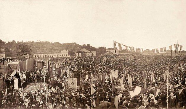 Lima Barreto esteve presente na Missa Campal celebrada pela abolição da escravatura