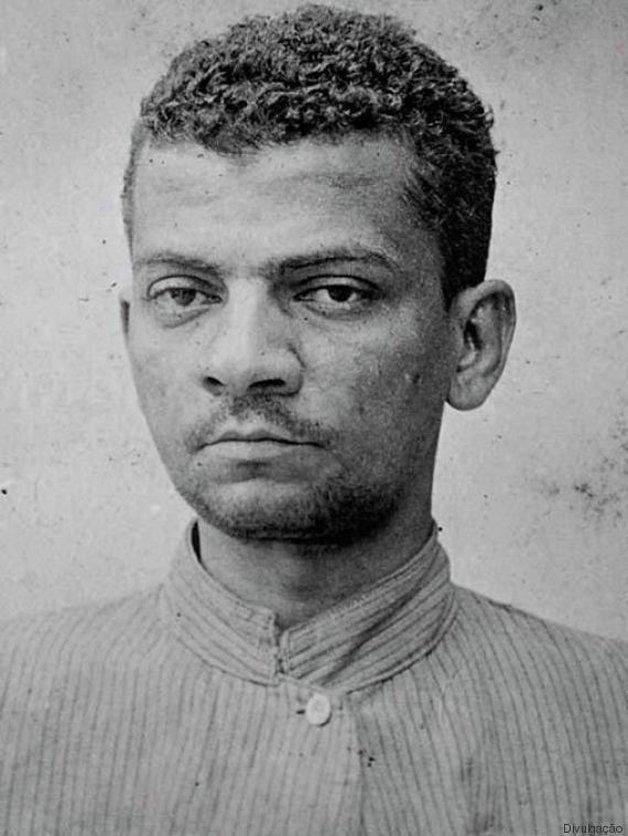 O jovem Lima Barreto, em foto retirada da ficha de uma de suas internações