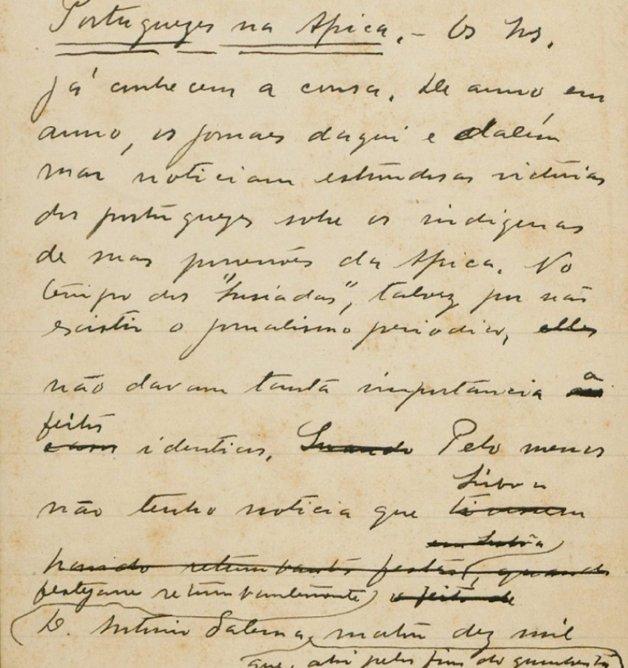 Manuscrito de Lima Barreto