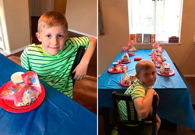 Mãe faz desabafo emocionante após nenhum amigo comparecer à festa de aniversário de seu garotinho
