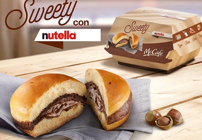 McDonald's cria o sonho de muita gente: um sanduíche de Nutella