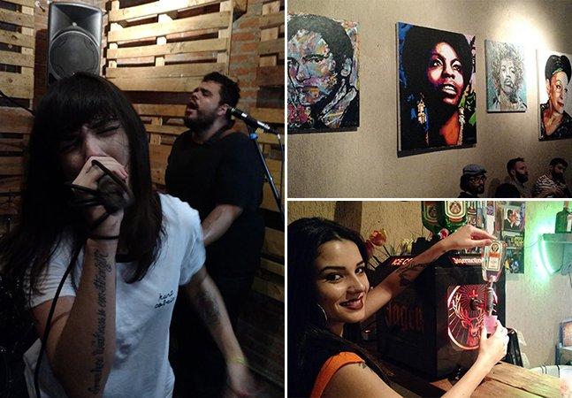 Rock and roll feito por meninas e doses de Jägermeister regam a noite no centro de São Paulo