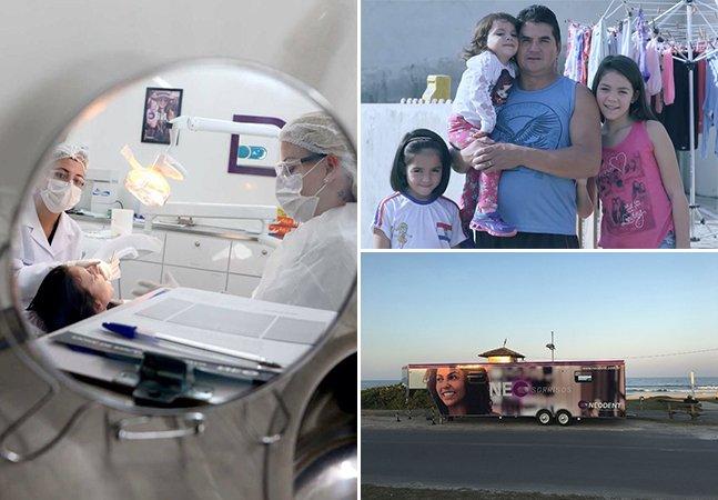 Trailer vira consultório itinerante para ajudar a devolver o sorriso a pessoas pelo Brasil