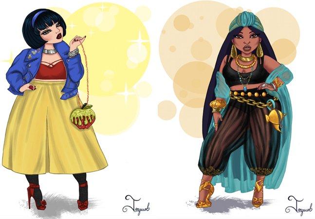 E se as princesas da Disney fossem atuais, fashionistas e curvilíneas?