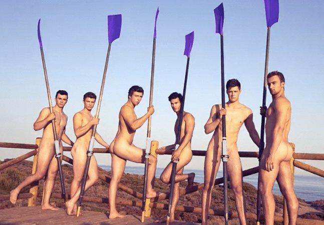 Os remadores nus estão de volta para promover o esporte e o respeito à diversidade sexual