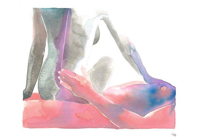 Estas aquarelas eróticas conseguem ser quentes e delicadas ao mesmo tempo