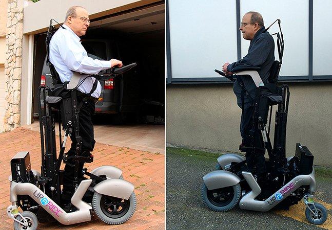 Empresa cria cadeira de rodas que permite que usuários andem de pé