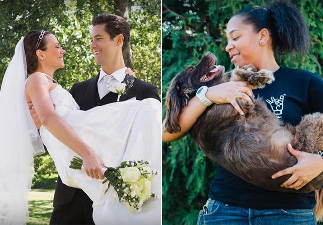Pessoas solteiras recriam fotos clássicas de casamento e o resultado é hilário