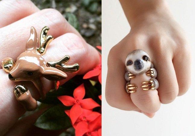 Esses anéis de bicho são perfeitos para você que ama a natureza