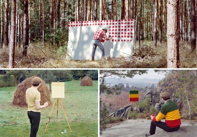 Série de fotografias aborda o egocentrismo na arte com bom humor