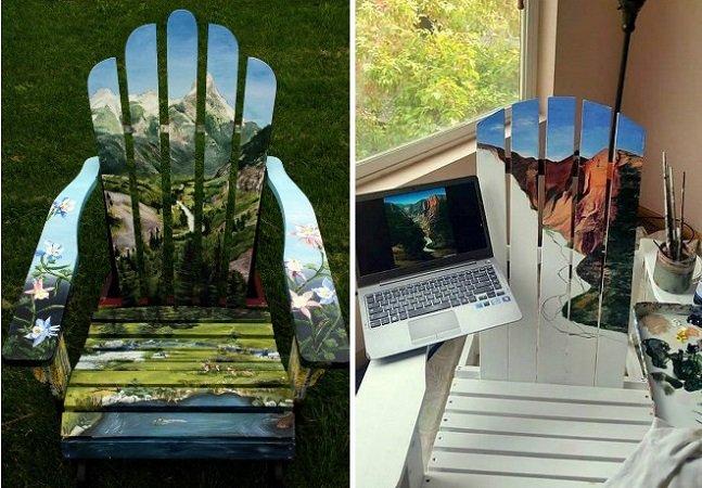 Estas cadeiras alegram até os ambientes mais cinzentos com suas lindas paisagens
