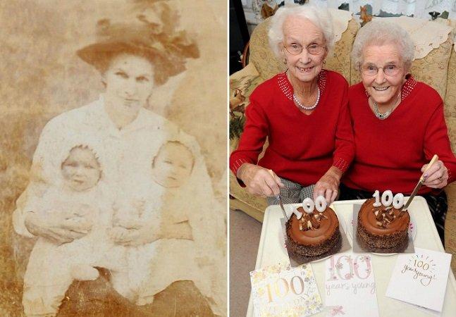 Irmãs gêmeas celebram 100 anos juntas e contam seus segredos para uma vida longa