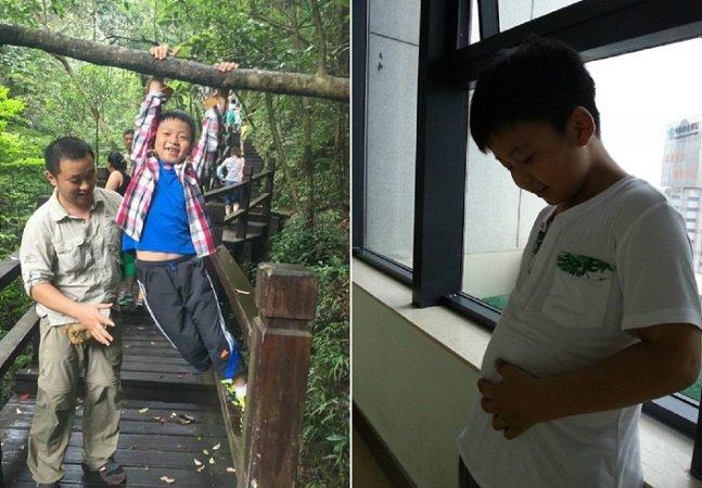 Este menino de 8 anos engordou 11kg para poder doar medula óssea e salvar seu pai
