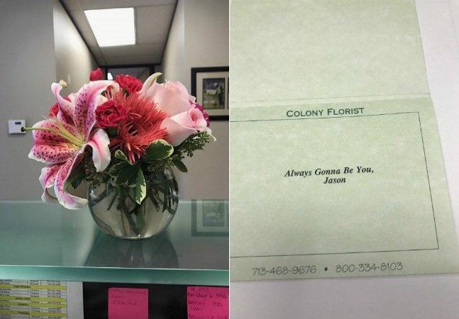 Homem tem gesto tocante ao enviar flores, como sempre fazia, para sua ex-mulher no dia do divórcio