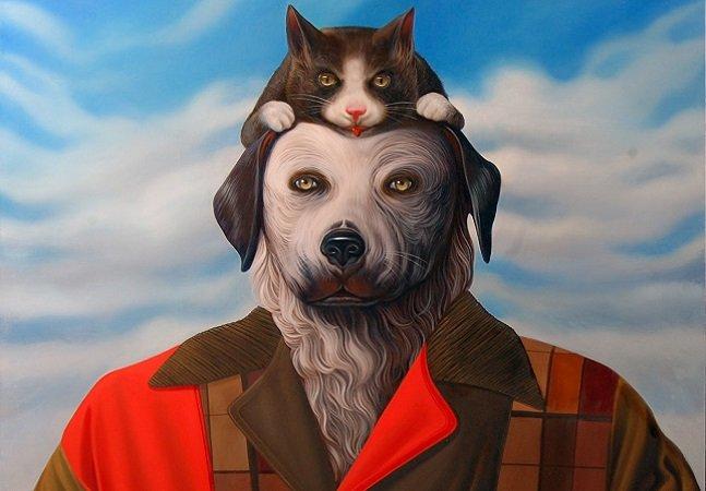 Artista cria retratos surreais de 'cães humanóides' e o resultado não poderia ser melhor