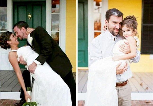 Menina de 4 anos relembra sua mãe ao fazer ensaio tocante com o mesmo vestido que ela usou no casamento