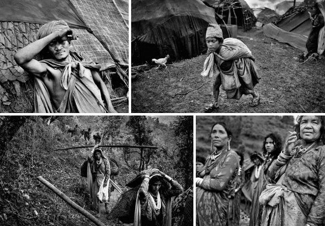 Fotografias fascinantes dos últimos nômades caçadores do Nepal