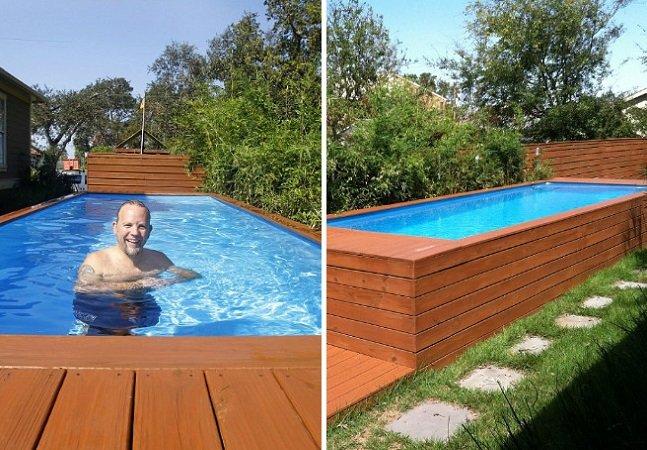 Arquiteto transforma antigo contentor de lixo em piscina
