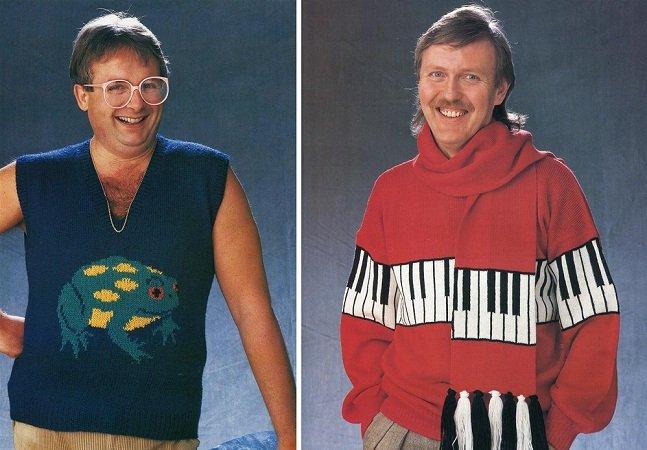 Ame ou odeie: os suéteres dos anos 1980 eram meio bregas mas super criativos