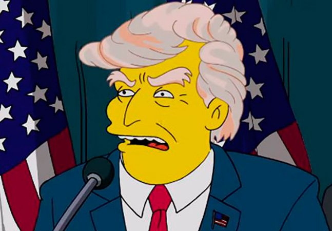Bola de cristal? Os Simpsons mostrou Donald Trump presidente há 16 anos