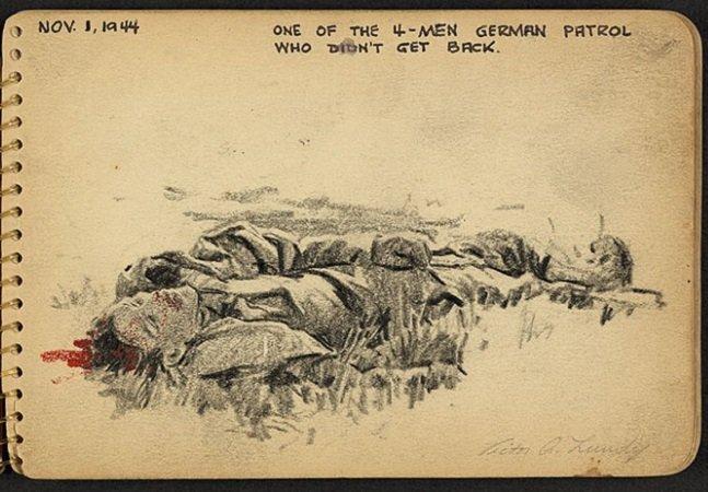 Este soldado-arquiteto registrou os horrores da Segunda Guerra em seu caderno de desenhos