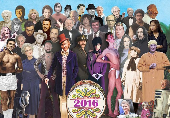 A capa do icônico Sgt. Pepper's é recriada com personalidades que se foram em 2016