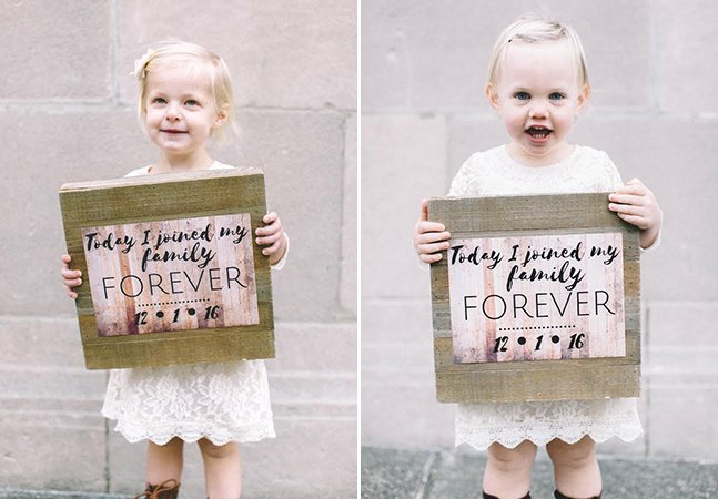 Mãe escreve carta tocante para suas filhas adotivas no dia da adoção