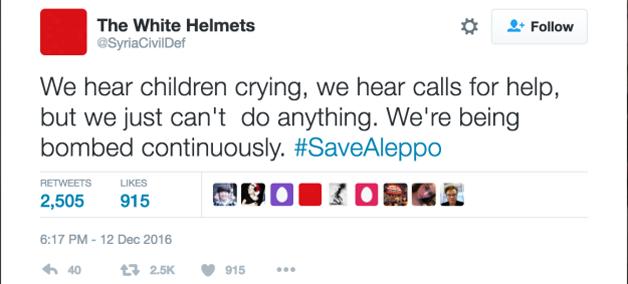 Escutamos crianças chorando, escutamos pedidos de ajuda, mas não podemos fazer nada. Estamos sendo constantemente bombardeados.