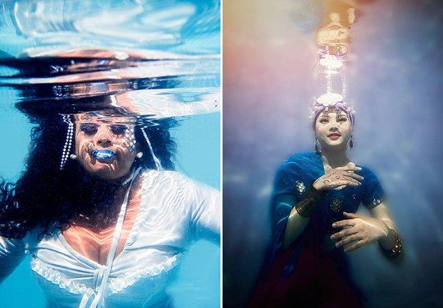 Série de fotos inspiradora debaixo d'água questiona as faces de Iemanjá em diferentes etnias