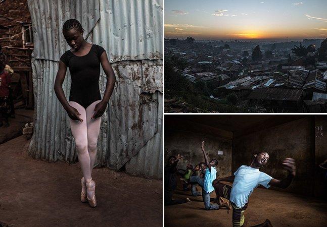 Série de fotos impressionante retrata o balé empoderando crianças numa das maiores favelas da África