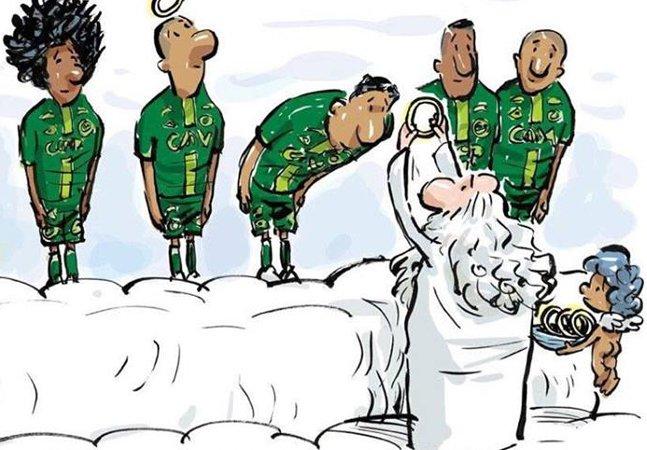 Cartum publicado pela página da Chapecoense oferece emocionante tributo aos seus atletas