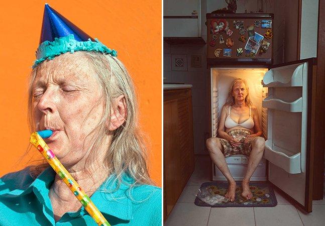 Ele resolveu homenagear sua mãe com retratos criativos e cheios de mistério