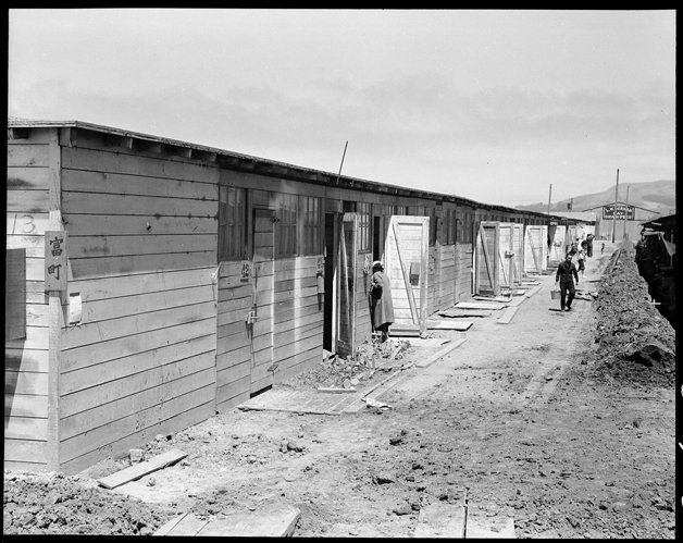 San Bruno, California. This scene shows one type of barracks for