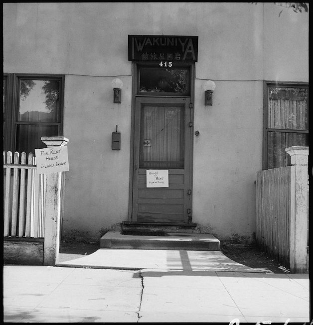 Sacramento, California. Rooming House in the Japanese section of