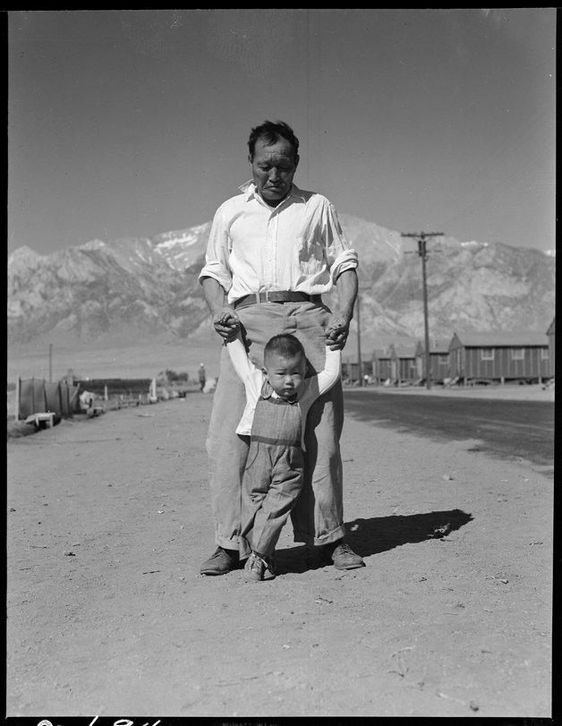 Manzanar Relocation Center, Manzanar, California. Grandfather of