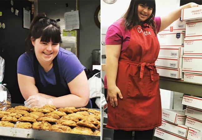 Rejeitada uma e outra vez, esta jovem com Síndrome de Down decidiu abrir sua própria padaria