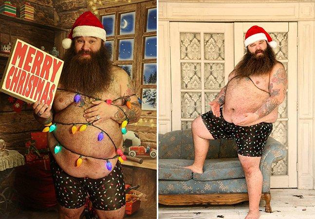 O ensaio sensual deste homem é o que você precisava para entrar definitivamente no espírito natalino