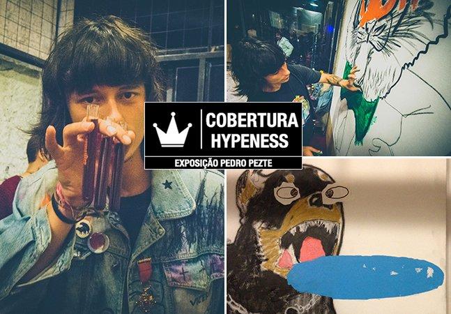 Shots de Jägermeister, pintura ao vivo e as 'obras de arte livre' do artista paulistano Pedro Pezte