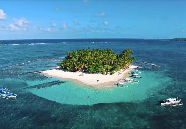 Estas imagens captadas por um drone viralizaram e vão te fazer querer viajar pras Filipinas agora