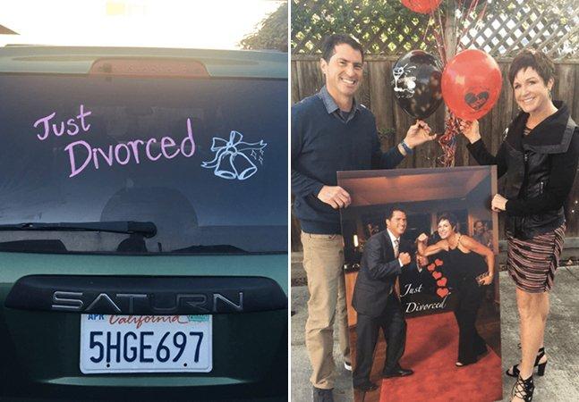 Este casal decidiu dar uma festa para celebrar seu divórcio e o momento foi épico