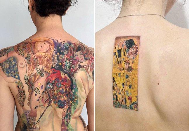 As sensuais e elegantes tattoos baseadas na obra do pintor Gustav Klimt