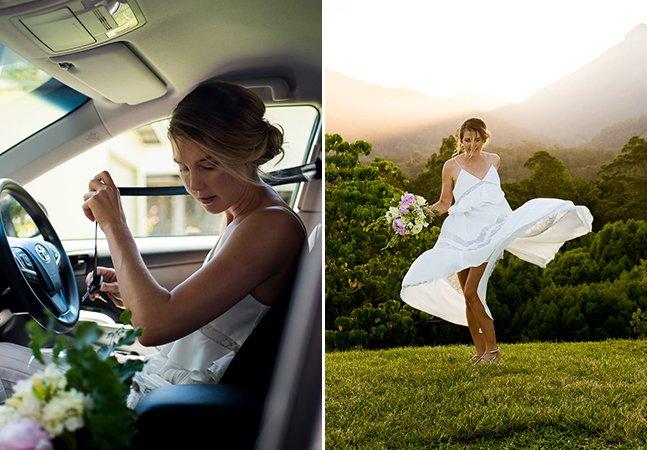 Ele fotografou seu próprio casamento e o resultado é encantador