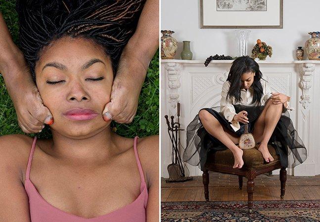 Fotógrafa retrata as dificuldades de ser uma mulher negra em série de imagens misteriosa