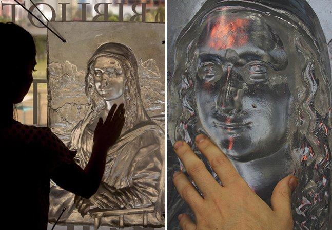 Eles imprimem quadros em 3D para levar a arte para pessoas com deficiência visual