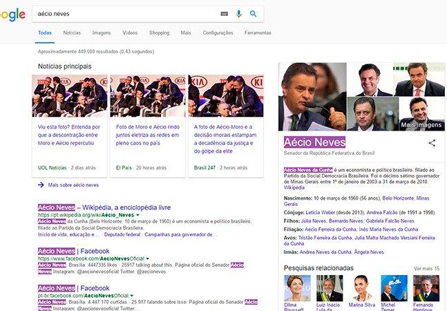 Plugin do Chrome deixa roxo o nome de políticos ficha-suja