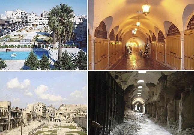 Para conscientizar, série 'antes e depois' mostra como Aleppo mudou após a guerra