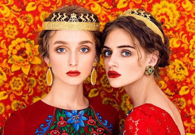 Este casal combina fotografia e alta costura para retratar a beleza da cultura eslava