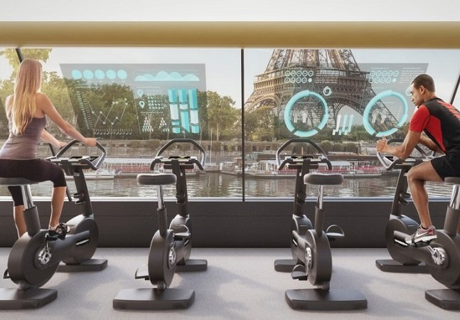 Academia flutuante movida a energia humana é aposta para resolver sedentarismo, mobilidade e falta de espaço