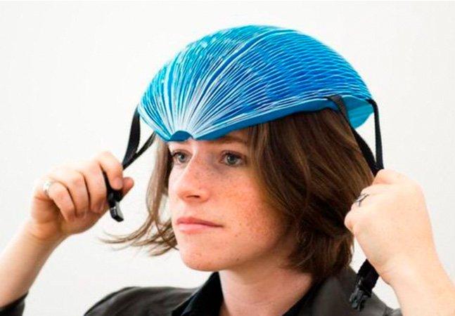 O capacete de papel que ganhou um dos mais importantes prêmios de inovação do mundo
